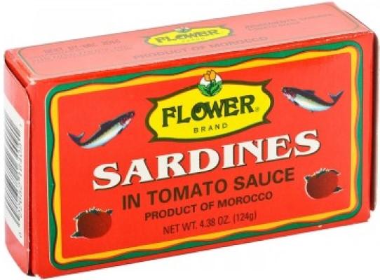 Flower Sardine In Tomato Sauce 4 Oz