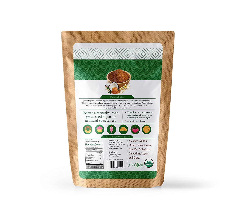 medium jans organic coconut sugar 1 lb BQH9yPV sF