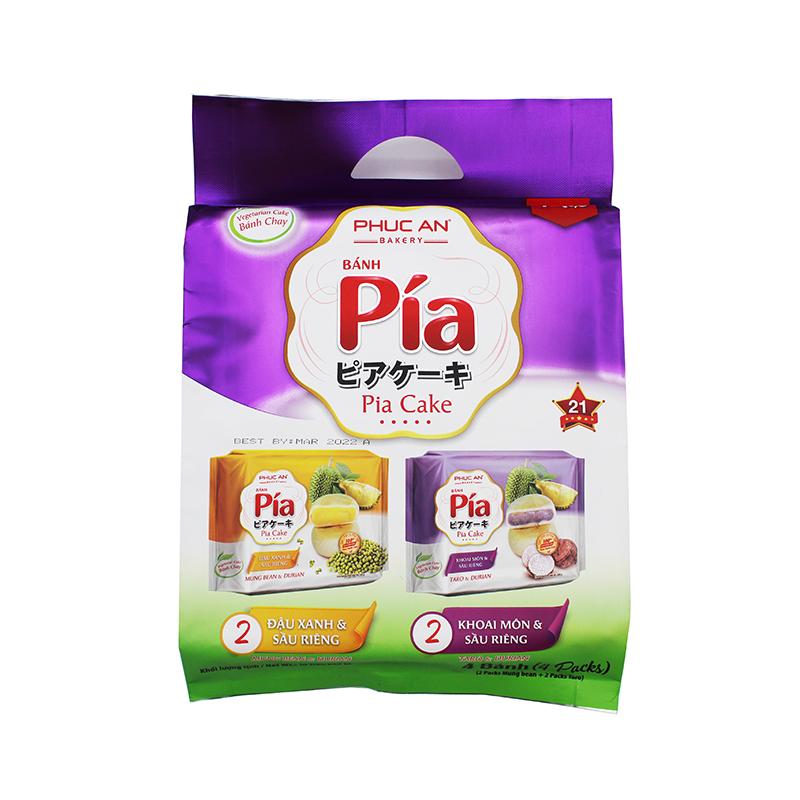 medium phuc an pia vegetarian cake with mung bean durian taro banh pia chay du xanh sau rieng 400 gr DqOgri7UA