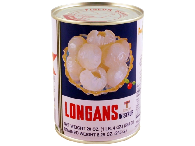 PIGEON Longans In Syrup 20 Oz