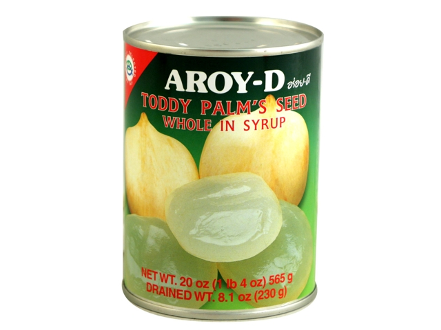 AROY-D Toddy Palm's Seed Whole In Syrup 20 OZ