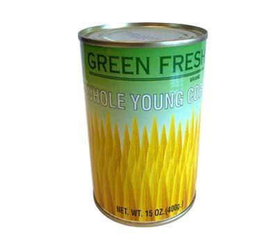 GREEN FRESH Whole Young Corn 15 OZ