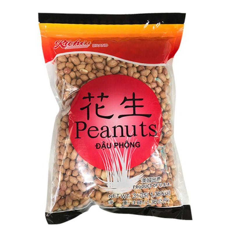 medium richin peanut with skin 3 lbs SnGh0n t9