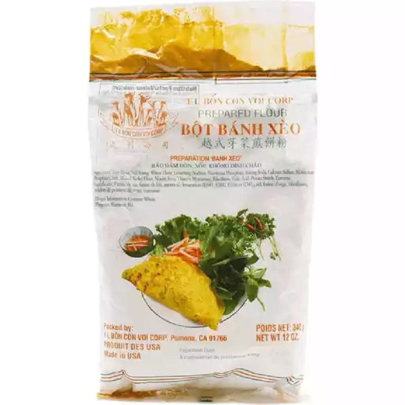 Tl Bon Con Voi Prepared Flour Bot Banh Xeo 12 Oz