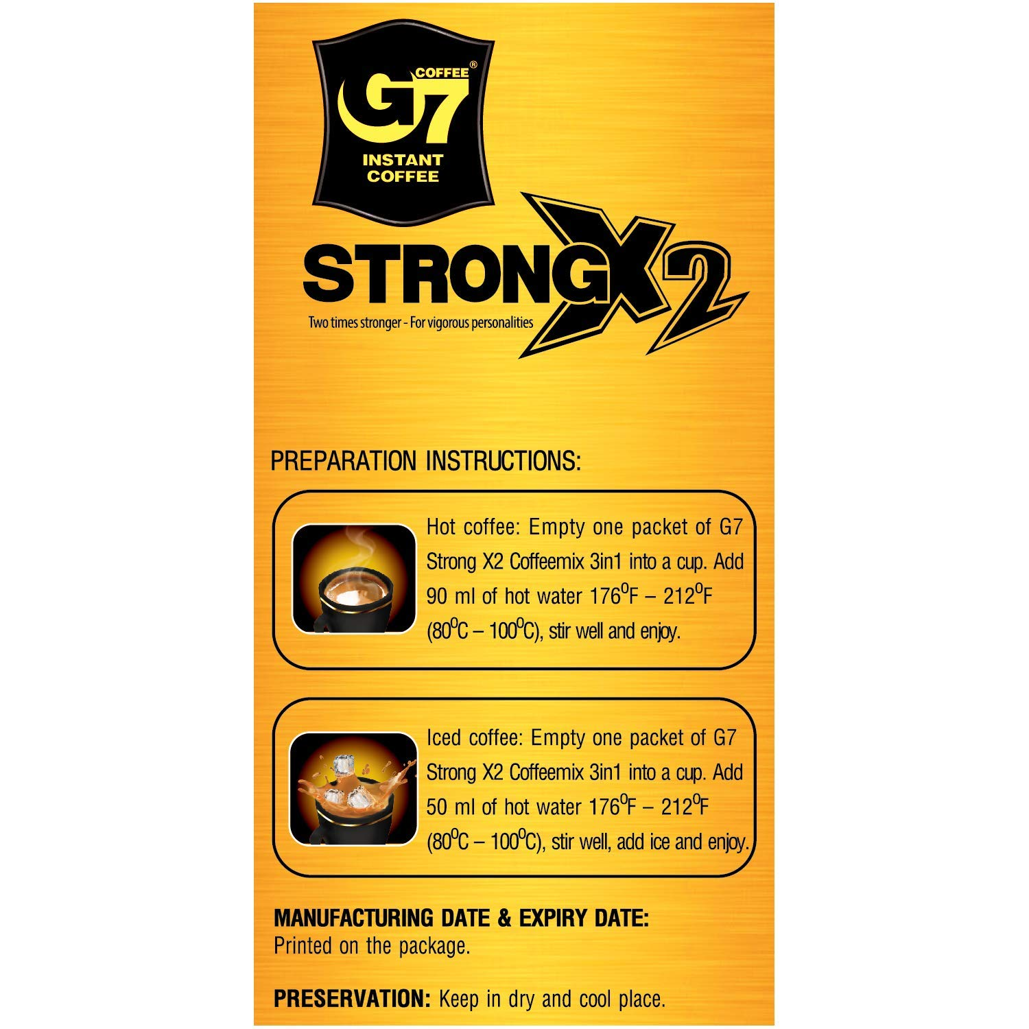 Trung Nguyen G7 Instant Coffee Strong X2 600 G 24 Pk