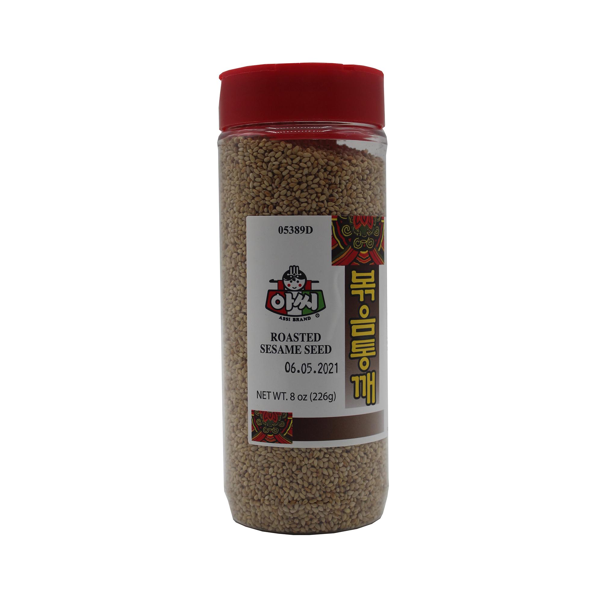 medium assi brand roasted sesame seed 8 oz