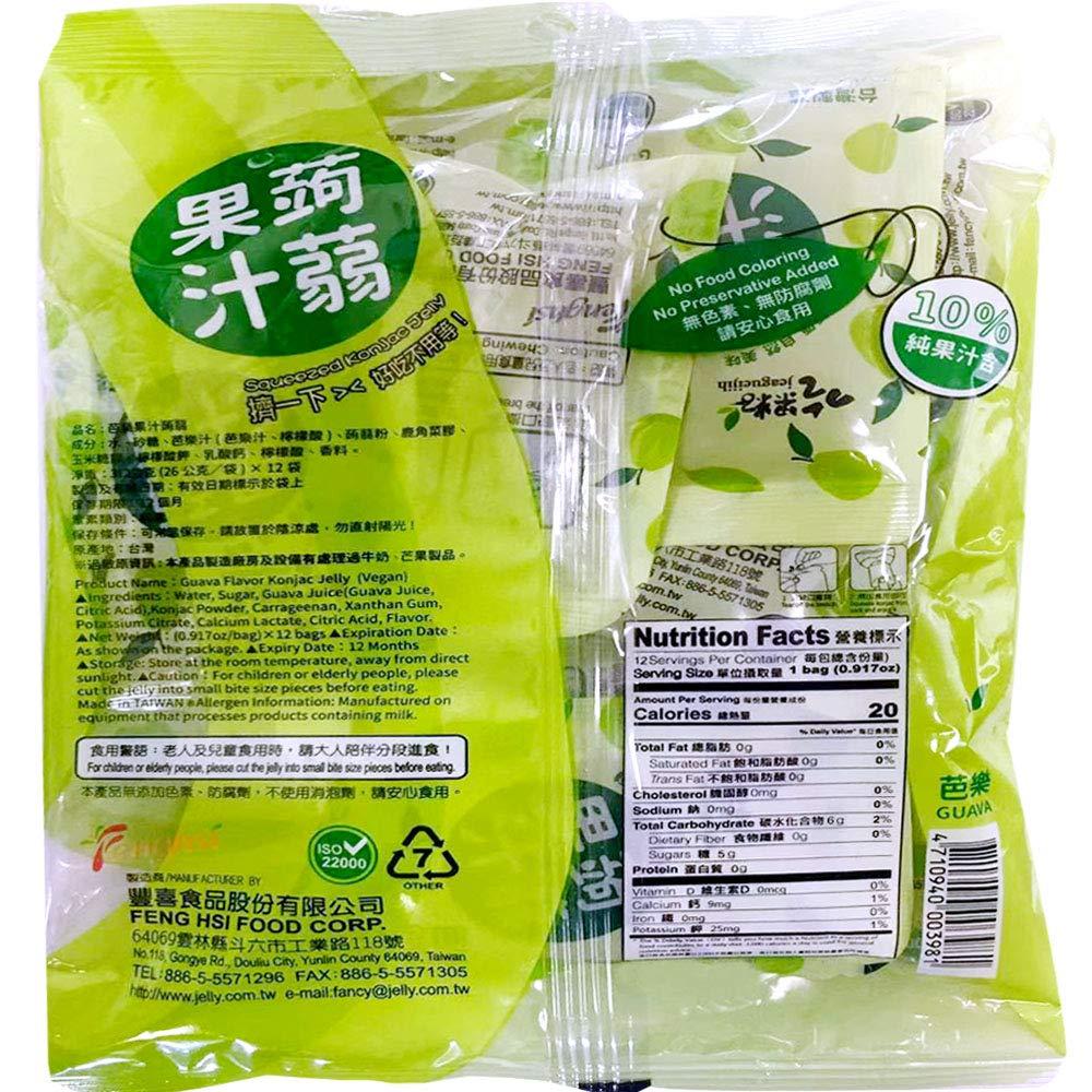 Jeagueijih Squeezed Konjac Jelly Guava Flavor 11 Oz