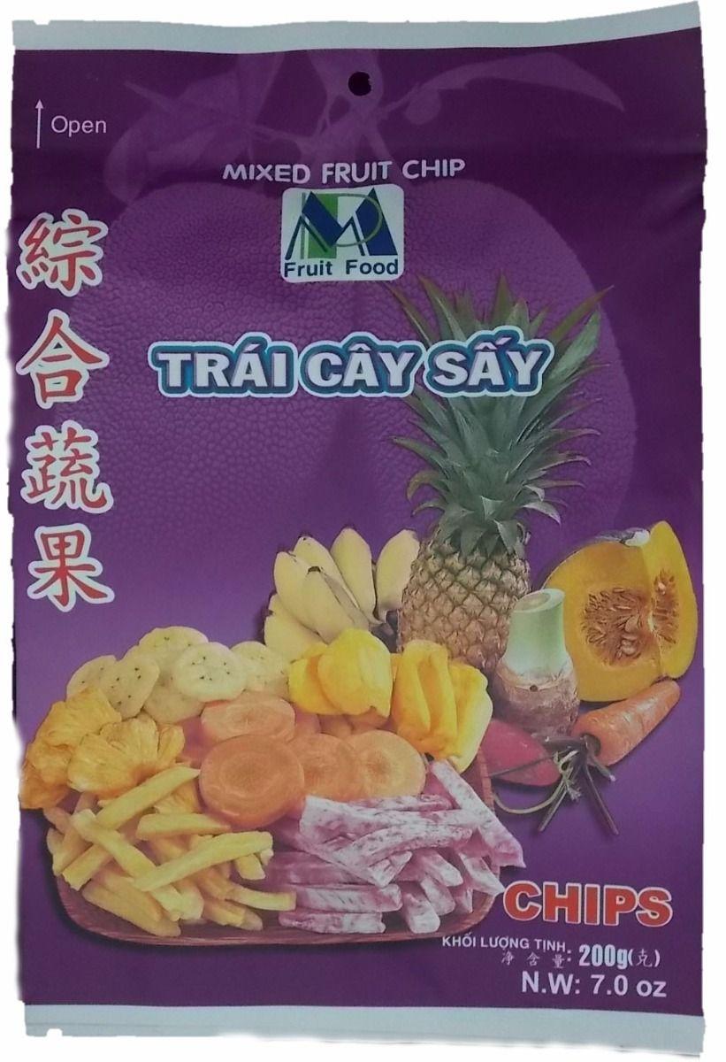medium minh phat food mixed fruit chip trai cay say 70