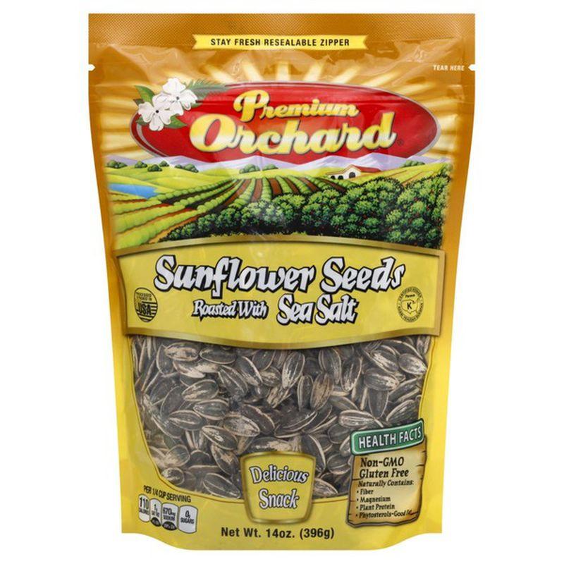 Premium Orchard Sunflower Seeds Roasted With Sea Salt 14 Oz
