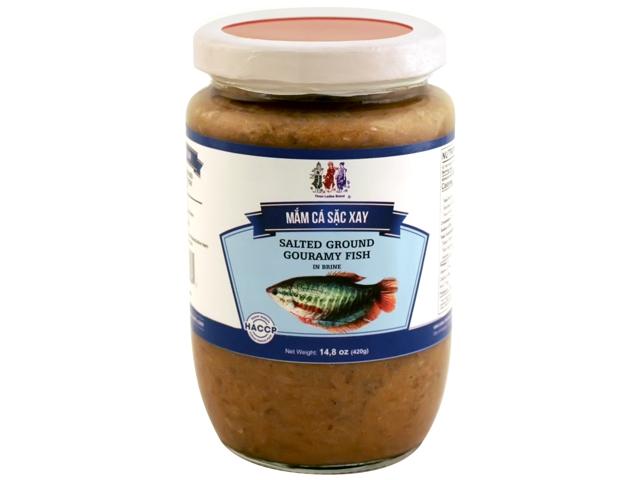 THREE LADIES Fine Salted Ground Gourmy Fish In Brine /  Mam Ca Sac Xay 14.8 Oz