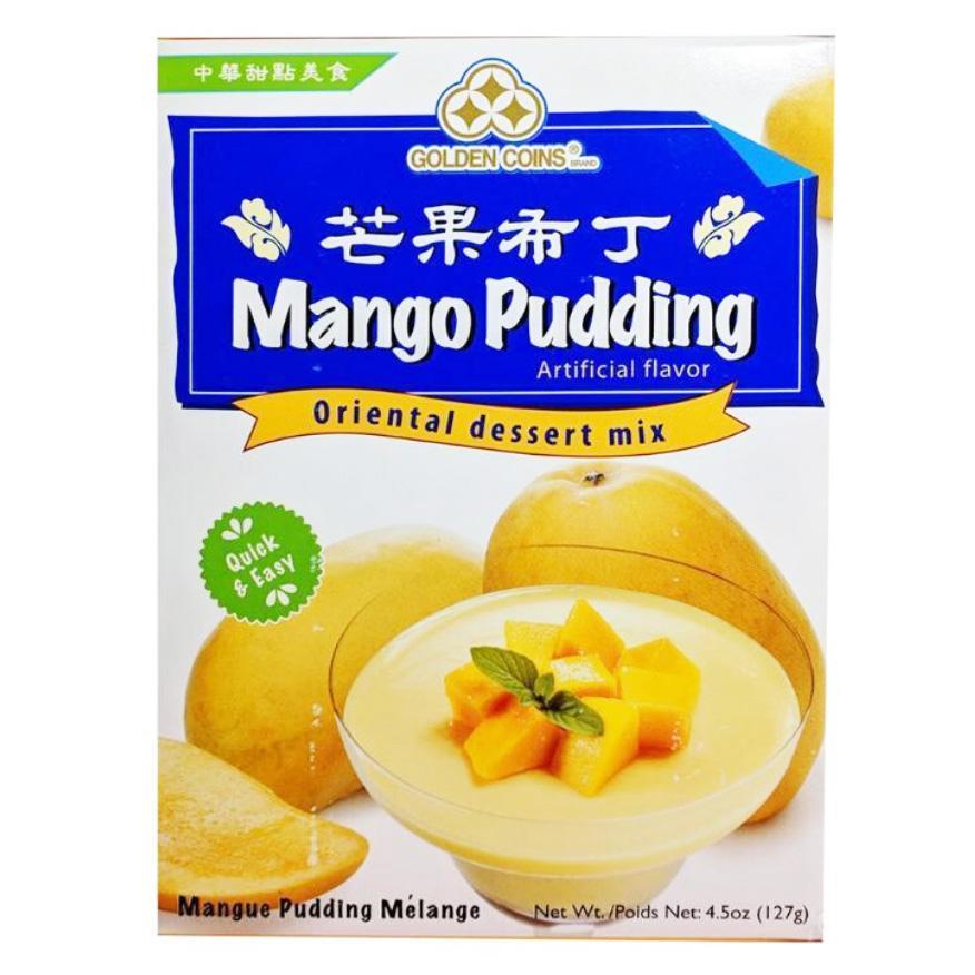 Golden Coinss Mango Pudding Oriental Dessert Mix 4.5 Oz