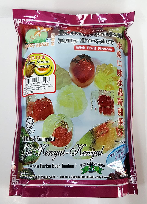 Happy Grass Konnyyaku Jelly Powder With Honey Melon Flavour 10.58 Oz