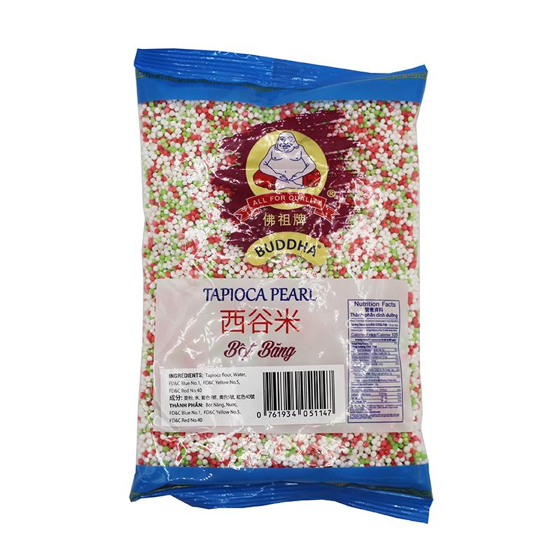 medium sunlee tri color tapioca pearl bot bang 14 oz 8SsnqMvtb