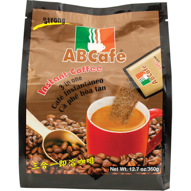 Abcafe Strong Instant Coffee  3 In 1 / Ca Phe Hoa Tan 14.1 Oz