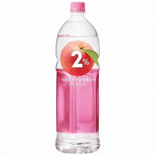 Lotte 2% Peach Refreshing Water 50.34 Fl Oz