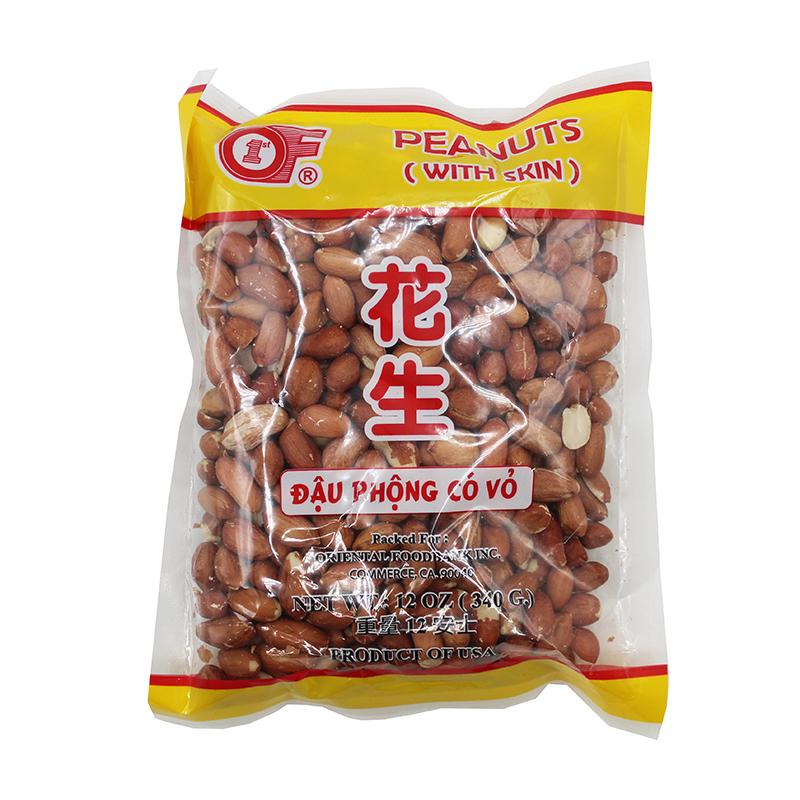 1 St Of Peanuts With Skin / Dau Phong Co Vo 12 Oz