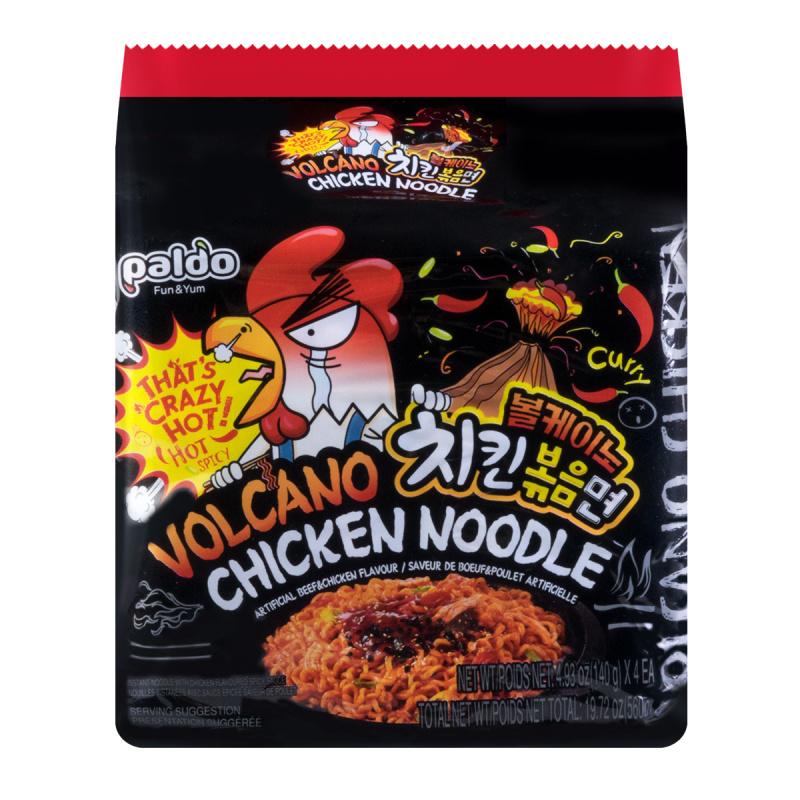 medium paldo volcano chicken noodle 4 pack hlHNt2v5a