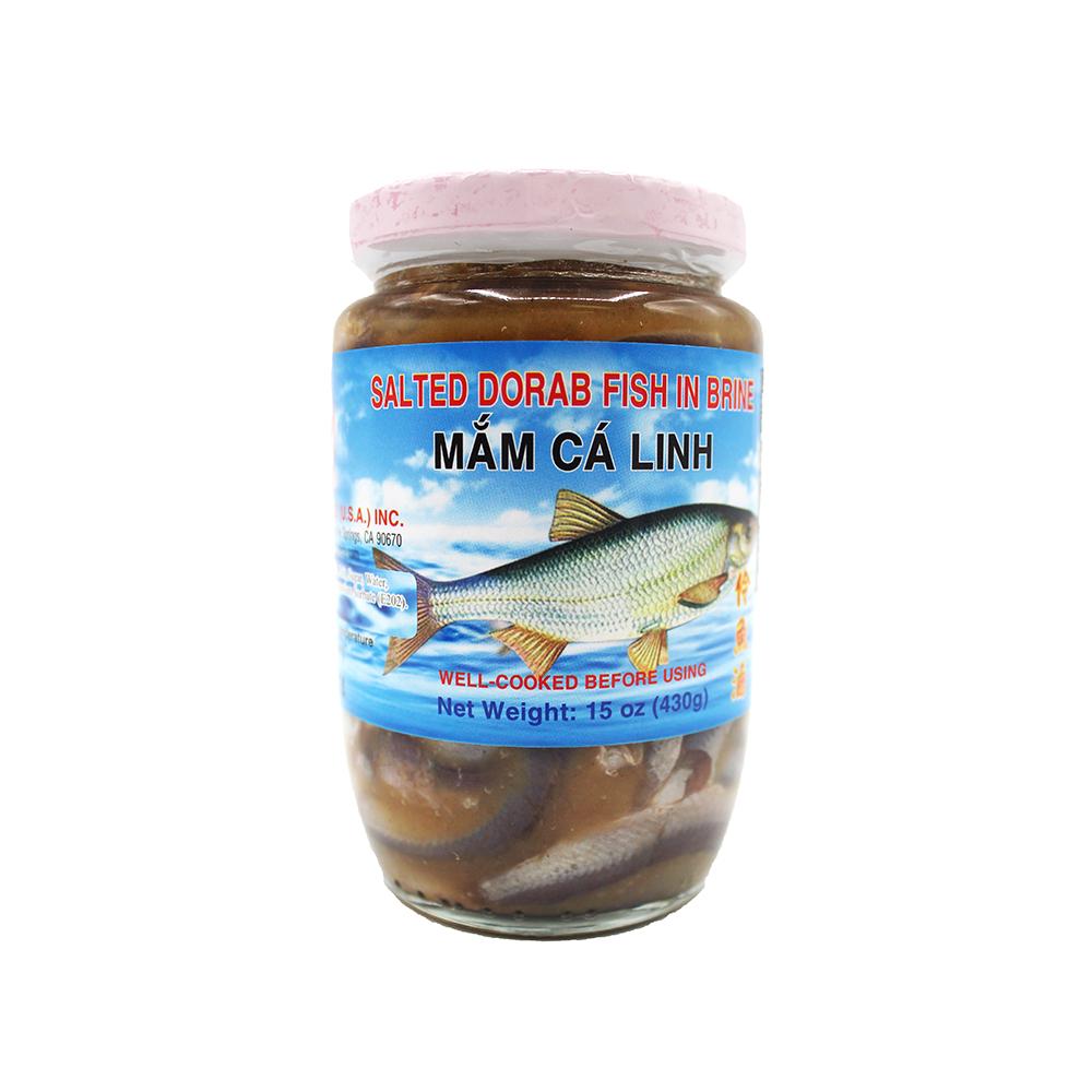 Rockman Salted Dorab Fish In Brine / Mam Ca Linh 15 Oz