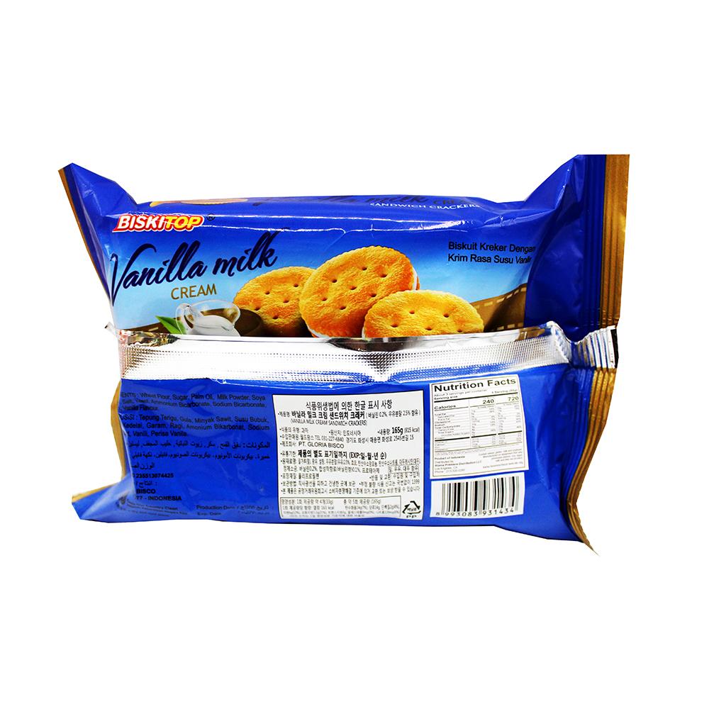 medium biskitop vanilla milk cream sandwich crackers 165
