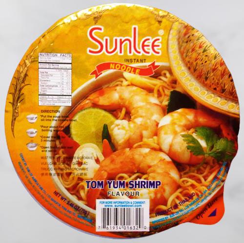 Sunlee Instant Noodle Tom Yum Shrimp Flavor 70 G