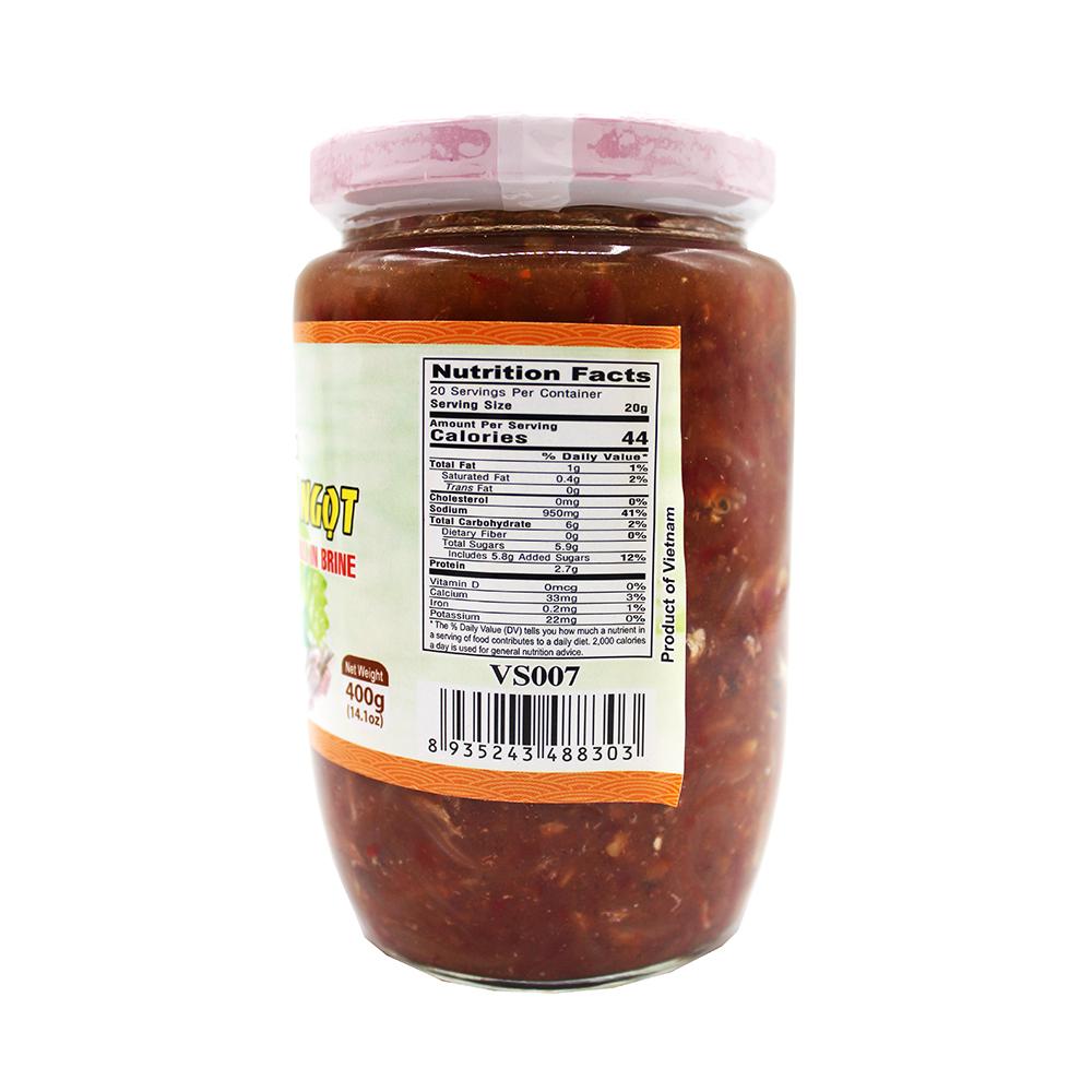 medium twin dolphins pickled anchovy fish chilli in brine ca com chua ngot 141 oz j0 JYz 6a
