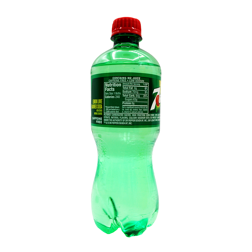 medium 7 up lemon lime flavored soda 20 oz Yw08 8WKK