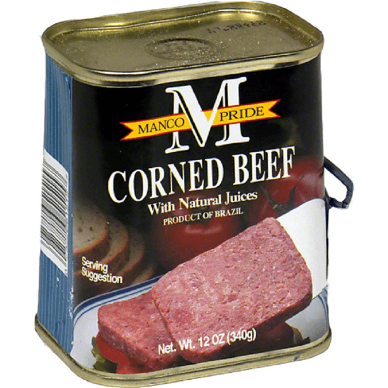 MANCO PRIDE Corned Beef W/ Natural Juice 12 Oz