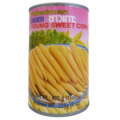 CHAOKOH Young Sweet Whole Corn In Brine 15 Oz