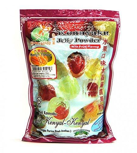 HAPPY GRASS Konnyaku Jelly Powder Mango Flavor 11 OZ