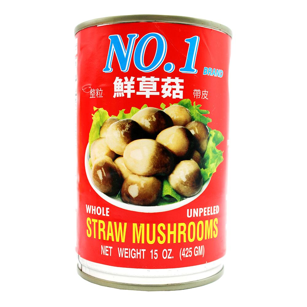 NO.1 Whole Unpeeled Straw Mushrooms 15 OZ