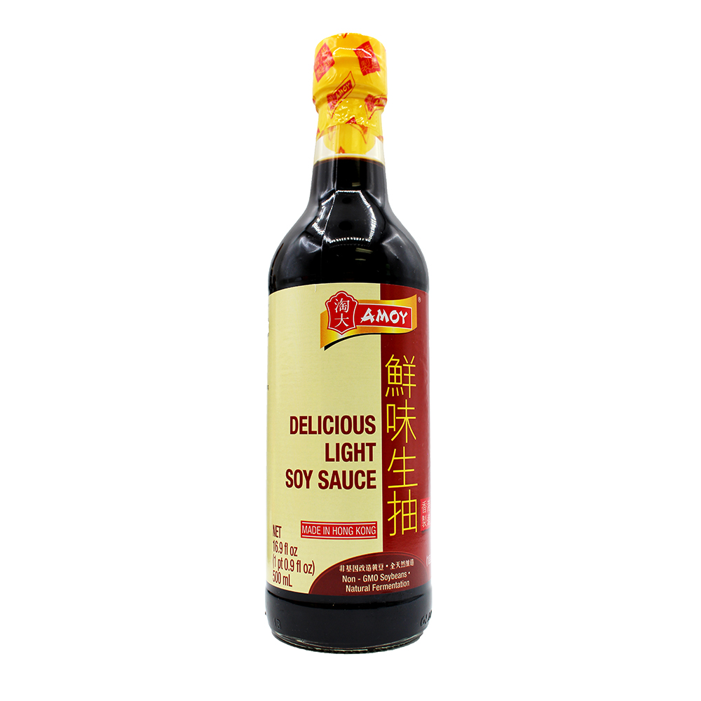 AMOY Delicious Light Soy Sauce 16.9 FL OZ