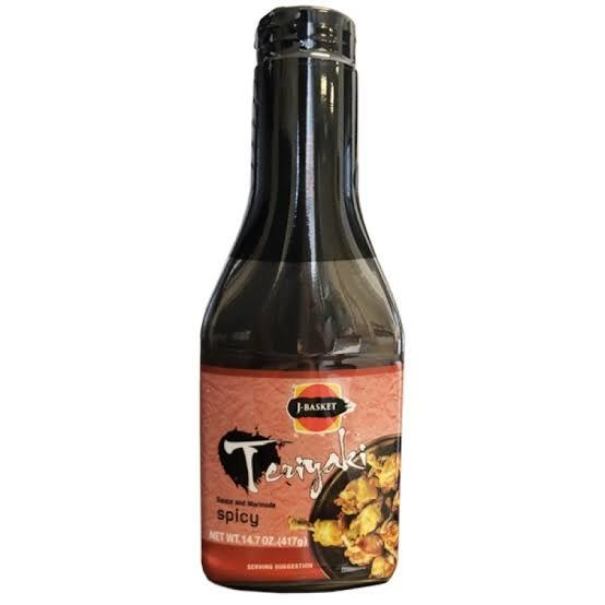 J-BASKET Teriyaki Sauce & Marinade Spicy 14.7 Oz