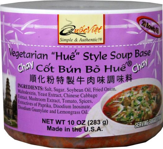 QUOC VIET Vegetarian Hue Style Soup Base/ Cot Bun Bo Hue Chay 10 Oz