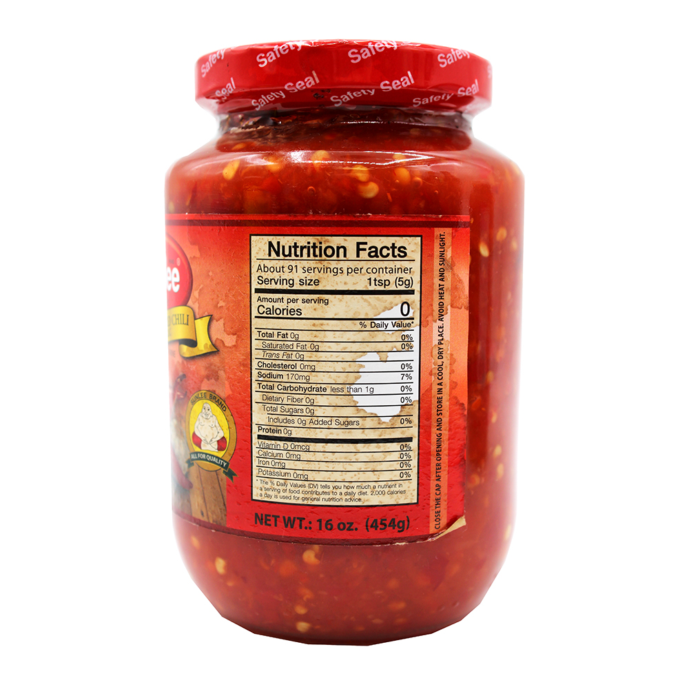 medium sunlee grounded red chili with garlic in brine 16 oz O1OCeHAfk