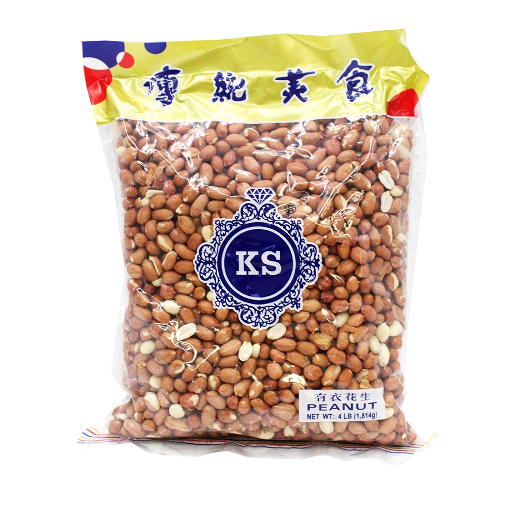 KS Peanut With Skin / Dau Phong Co Vo 64 OZ
