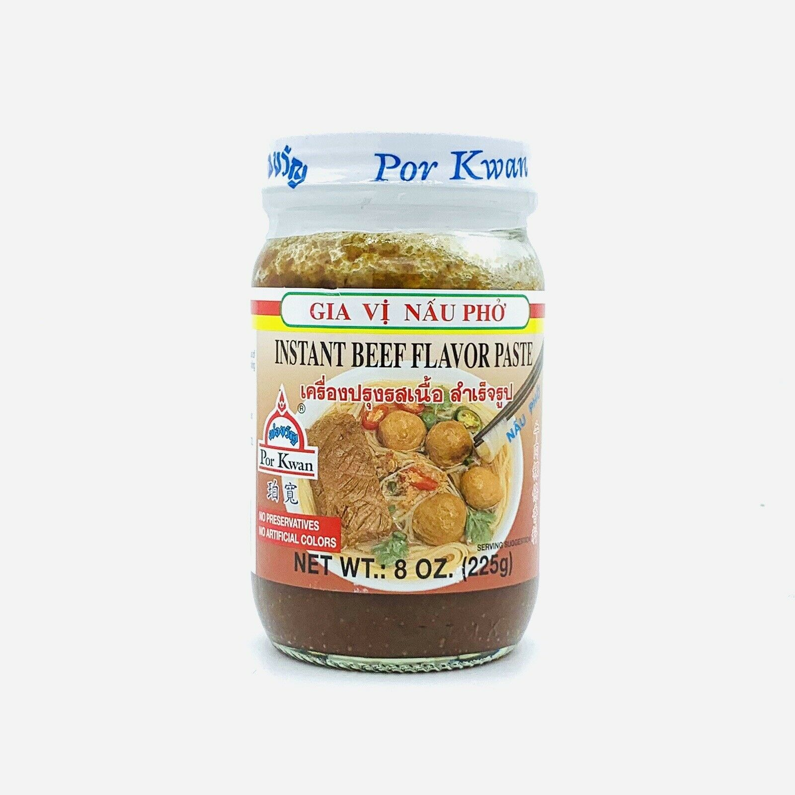 medium por kwan instant beef flavor paste gia vi nau pho 8