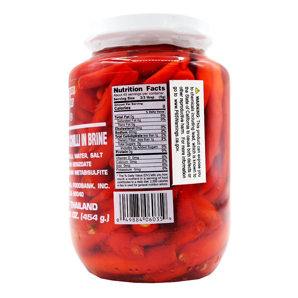 medium 1st of pickled whole red chilli in brine 16 oz T3a1RWekf