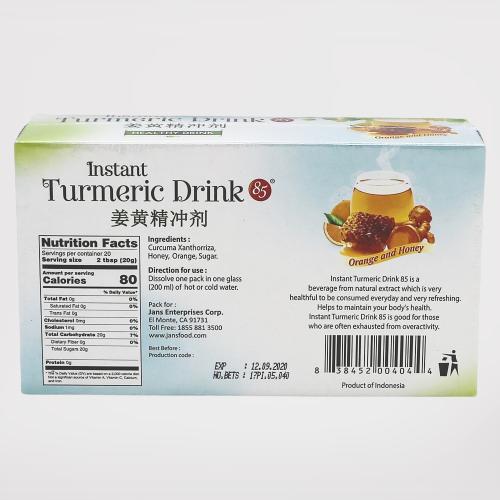 medium 85 instant turmeric drink orange and honey 8 oz 4AkG cyFC