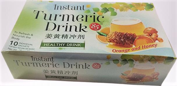85 Instant Turmeric Drink Orange And Honey 8 OZ
