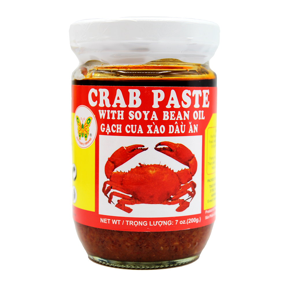 BUTTERFLY Crab Paste With Soya Bean Oil / Gach Cua Xao Dau An 7 OZ