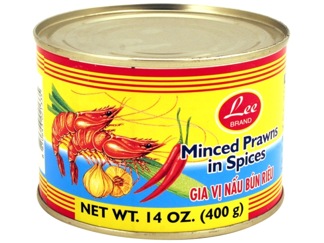 LEE Minced Prawns In Spices / Gia Vi Nau Bun Rieu 14 OZ