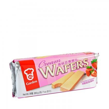 GARDEN Cream Strawberry Wafers 7 OzC