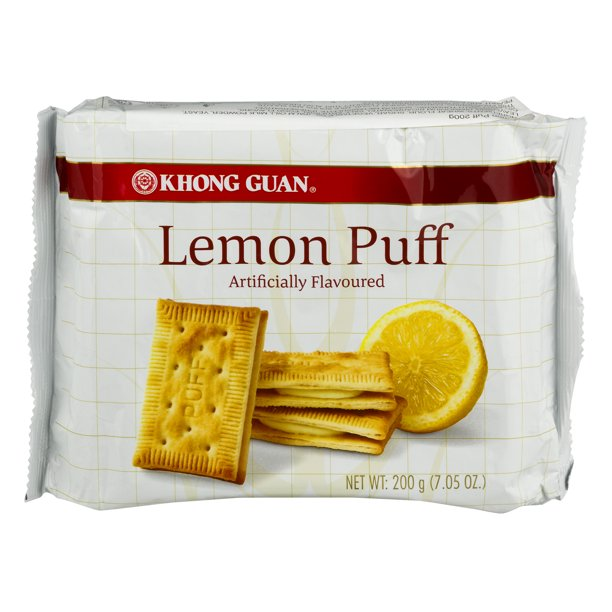 KHONG GUAN Lemon Puff Flavor Biscuit 7.05 Oz