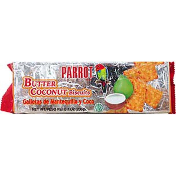 medium parrot butter coconut biscuits 7 oz DYEWKjl8u