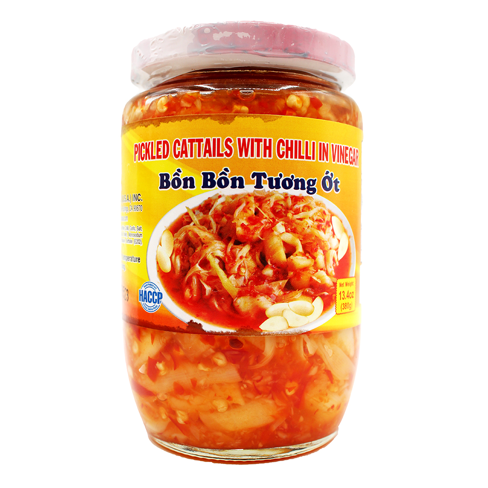 ROCKMAN Pickled Cattails With Chilli Vinegar / Bon Bon Tuong Ot 13.4 OZ