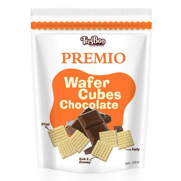 TRESBON Wafer Cubes Chocolate 8.8 Oz