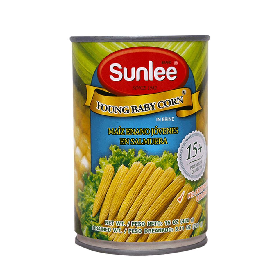 SUNLEE Young Baby Corn In Brine 15 OZ