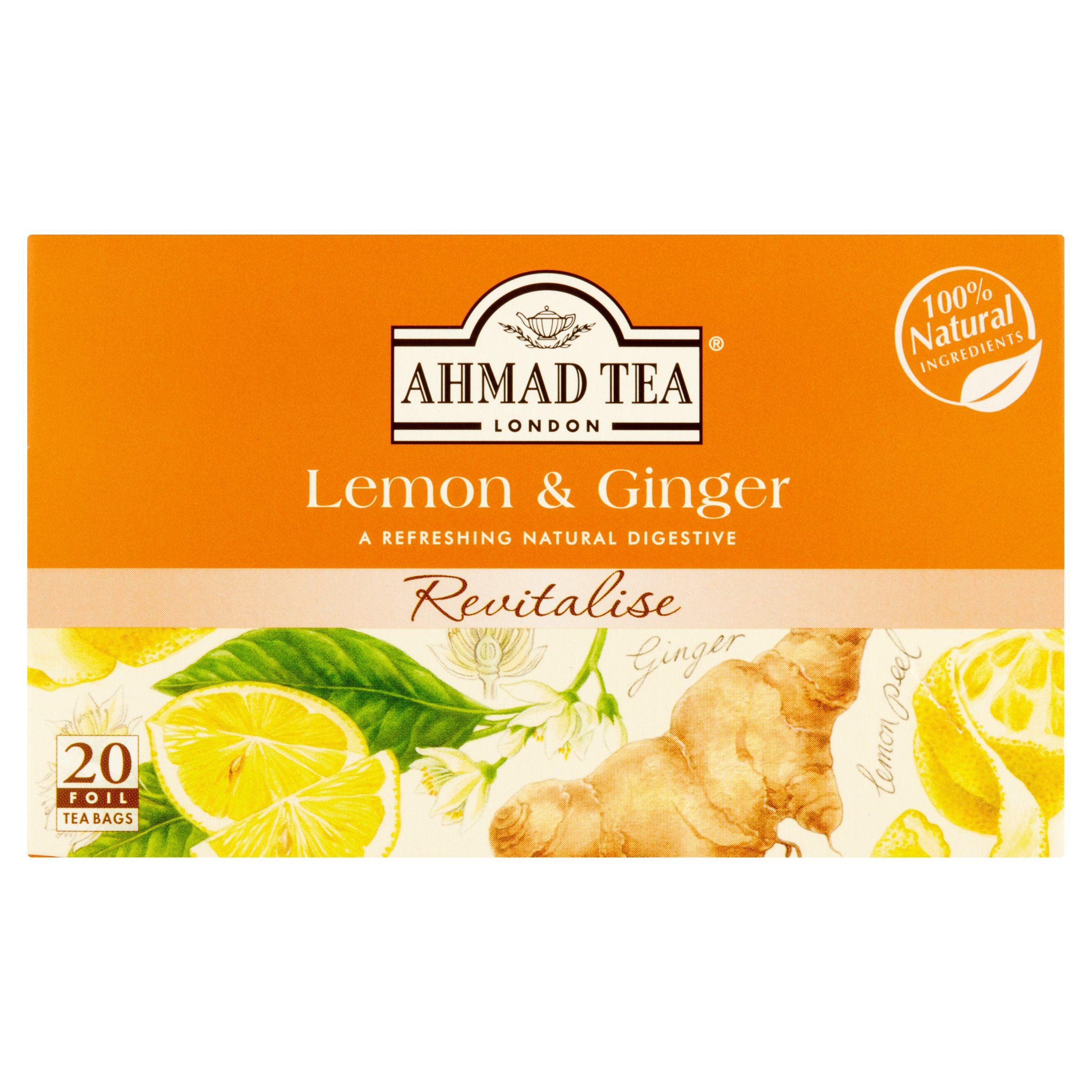 medium ahmad tea london lemon ginger tea 20 bags b74XYKgHC