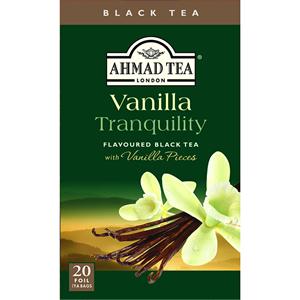 AHMAD TEA LONDON  Vanilla Tranquility Flavoured Black Tea 1.4 OZ