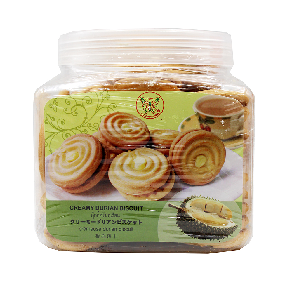 BUTTERFLY Creamy Durian Biscuit 15.5 OZ